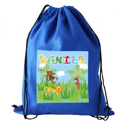 Personalised Animal Alphabet Boys Kit Bag